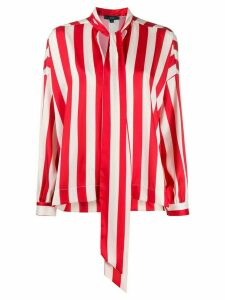 Jejia striped-print long-sleeved blouse - Red