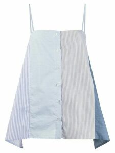MRZ striped buttoned tank top - Blue