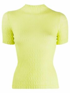MRZ textured knitted top - Green