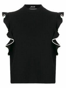 Karl Lagerfeld KARL ruffle crop knit - Black