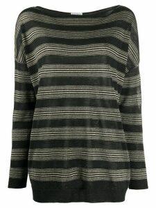 Brunello Cucinelli horizontal striped jumper - Grey