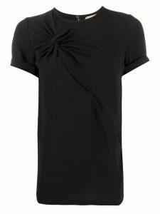 Nº21 twisted detail T-shirt - Black