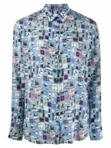PS Paul Smith printed shirt - Blue