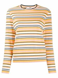 YMC striped regular-fit jumper - Yellow