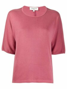 YMC ribbed loose-fit cotton T-shirt - PINK