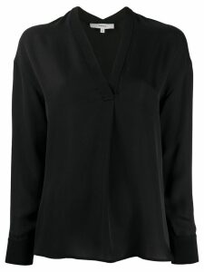 Vince v-neck silk blouse - Black
