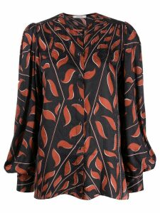 Dorothee Schumacher abstract print blouse - Black