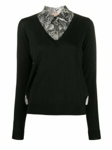 Nº21 snakeskin printed panels jumper - Black