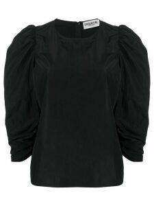 Essentiel Antwerp ruffle fitted blouse - Black