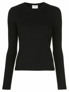 RE/DONE ribbed knit round neck jumper - Black