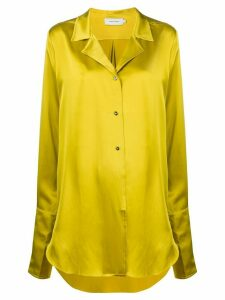 Marques'Almeida satin oversized shirt - Yellow
