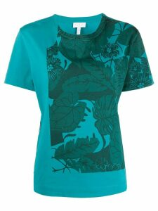 Escada Sport leaf print T-shirt - Blue
