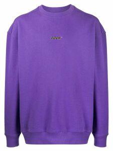 Ader Error logo-print sweatshirt - PURPLE