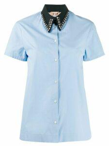 Nº21 embellished collar shirt - Blue