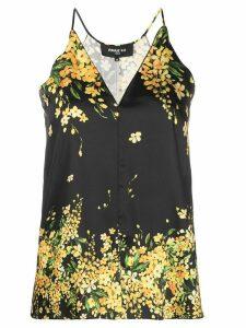 Paule Ka floral camisole top - Black