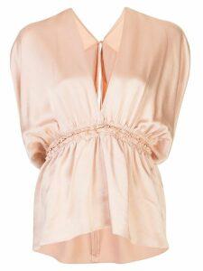 Maison Rabih Kayrouz cinched-waist blouse - PINK