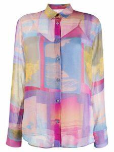PS Paul Smith abstract print shirt - PINK