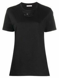 Moncler printed text logo patch T-shirt - Black