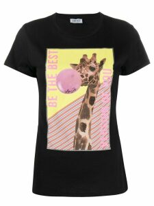 LIU JO giraffe-print cotton T-shirt - Black