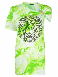 Versace tie-dye medusa print T-shirt - Green
