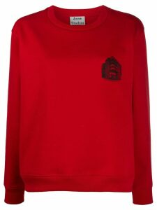 Acne Studios Headquarter-print sweatshirt - Red