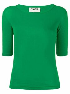 YMC plain fitted T-shirt - Green
