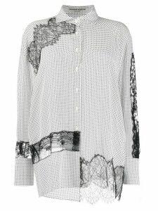 Ermanno Scervino lace insert blouse - White