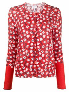 Escada Sport floral-print knitted cardigan - Red