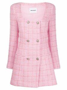 Brognano double-breasted scoop-neck coat - PINK