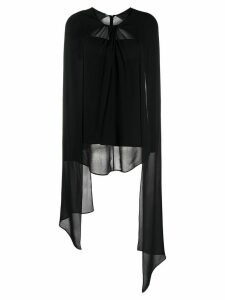 Prada sheer detail long-sleeved blouse - Black