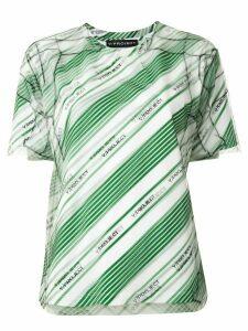 Y/Project diagonal-stripe top - Green