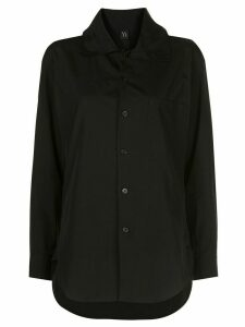 Y's spread-collar shirt - Black