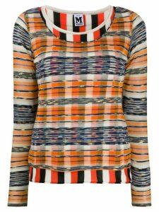 M Missoni check striped jumper - ORANGE