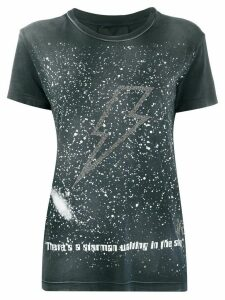 John Richmond lightning bolt embellished T-shirt - Grey