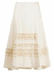 Molly Goddard ruffle trim skirt - NEUTRALS