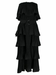 Essentiel Antwerp Valentina pleated column dress - Black