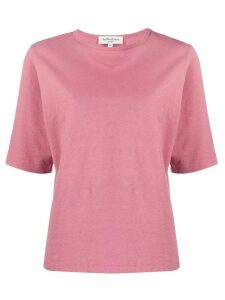 YMC crew neck cotton T-shirt - PINK