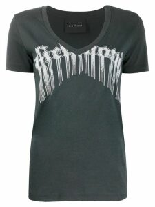 John Richmond v-neck logo printed T-shirt - Black