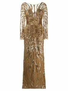 Zuhair Murad sequin-embellished gown - GOLD