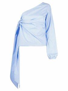 Nº21 one-shoulder draped blouse - Blue