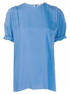 Nº21 pleated T-shirt - Blue