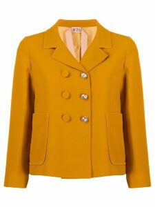 Nº21 crystal button jacket - Yellow