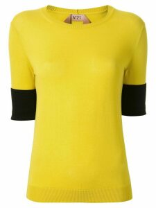 Nº21 embroidered logo knitted top - Yellow
