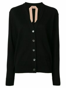 Nº21 v-neck logo cardigan - Black