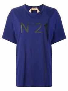 Nº21 printed logo oversized T-shirt - PURPLE