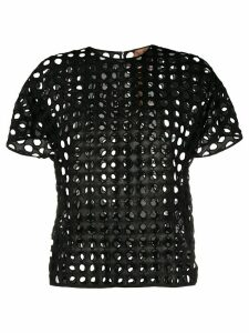 Nº21 mesh short-sleeve T-shirt - Black