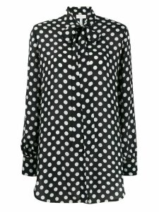 Escada Sport polka dot tie neck shirt - Blue