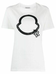 Moncler beaded logo T-shirt - White