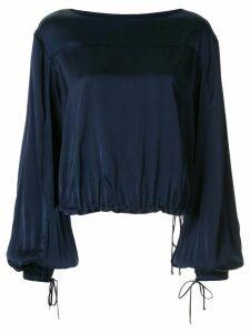Manning Cartell drawstring-hem satin blouse - Blue