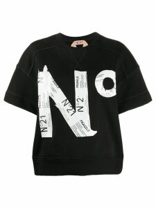 Nº21 logo detail T-shirt - Black
